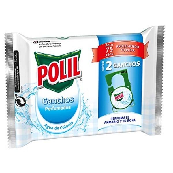 Polil ganchos perfumados aroma Agua de Colonia 2 uds