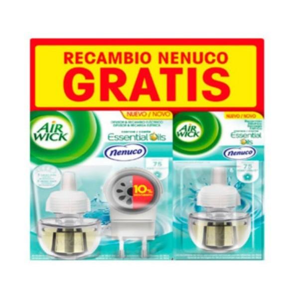 Air Wick Ambientador Pure Difusor +Recambio Nenuco + Recambio GRATIS