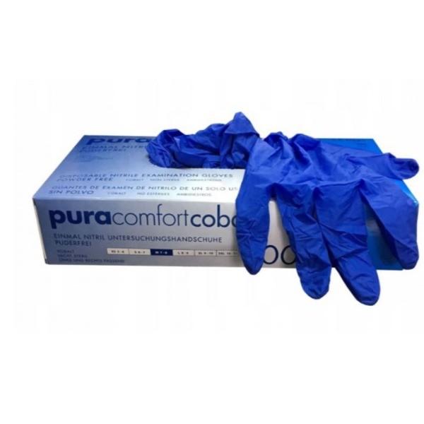 Cobalt Pura Confort guantes de nitrlo azul talla M 100 uds