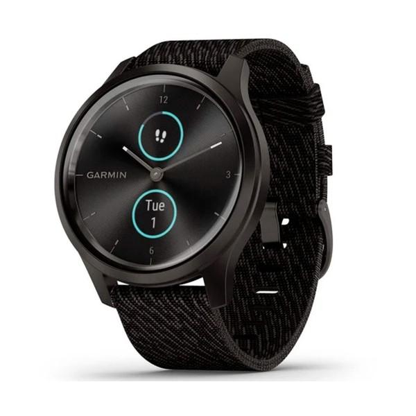 Garmin vívomove style smartwatch negro 42mm amoled con correa nailon negro