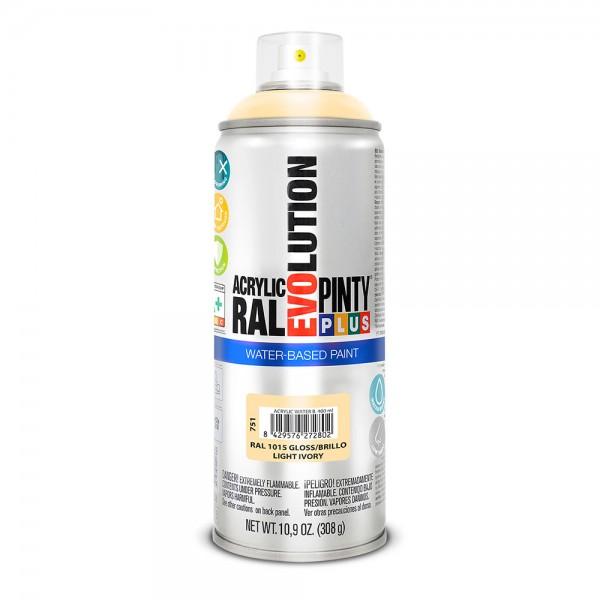 Pintura en spray pintyplus evolution water-based 520cc ral 1015 marfil claro