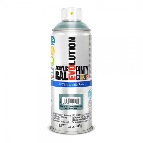 Pintura en spray pintyplus evolution water-based 520cc ral 7001 gris plata