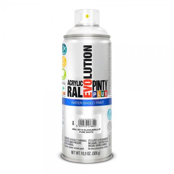 Pintura en spray pintyplus evolution water-based 520cc ral 9010 blanco puro